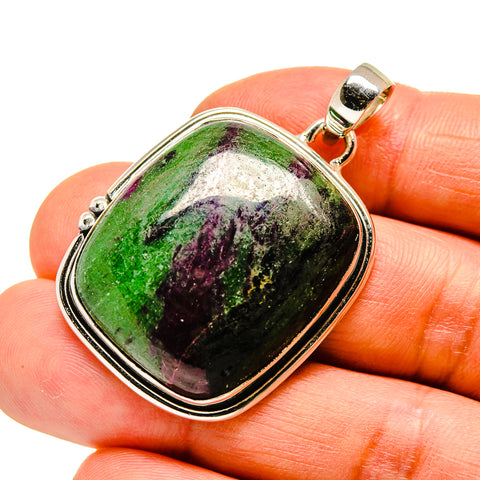 Ruby Zoisite Pendants handcrafted by Ana Silver Co - PD746539