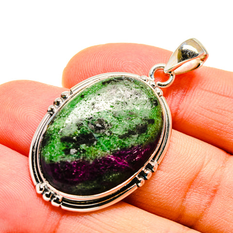 Ruby Zoisite Pendants handcrafted by Ana Silver Co - PD746762