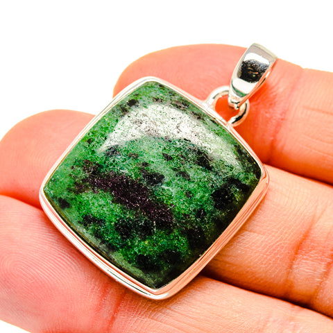 Ruby Zoisite Pendants handcrafted by Ana Silver Co - PD746802