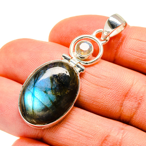 Labradorite Pendants handcrafted by Ana Silver Co - PD746994