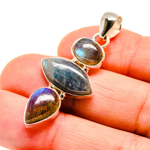 Labradorite Pendants handcrafted by Ana Silver Co - PD747109