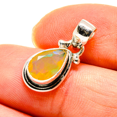 Ethiopian Opal Pendants handcrafted by Ana Silver Co - PD747393