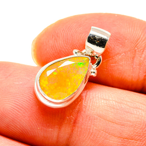 Ethiopian Opal Pendants handcrafted by Ana Silver Co - PD747395