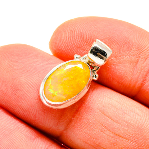 Ethiopian Opal Pendants handcrafted by Ana Silver Co - PD747802