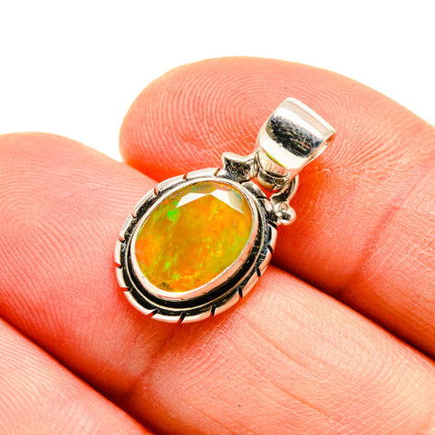 Ethiopian Opal Pendants handcrafted by Ana Silver Co - PD747810