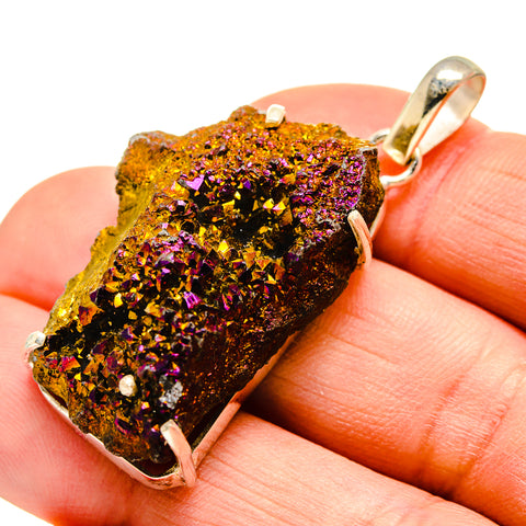 Titanium Druzy Pendants handcrafted by Ana Silver Co - PD751570