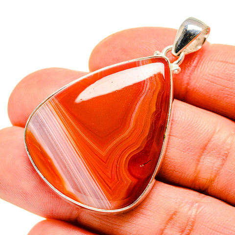 Red Botswana Agate Pendants handcrafted by Ana Silver Co - PD752204