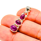 Ruby Pendants handcrafted by Ana Silver Co - PD752298