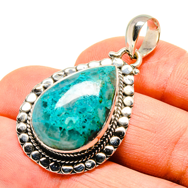 Chrysocolla In Quartz Pendants handcrafted by Ana Silver Co - PD755203