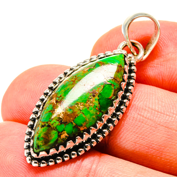 Green Copper Composite Turquoise Pendants handcrafted by Ana Silver Co - PD756298