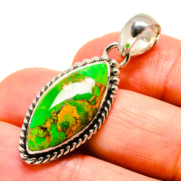 Green Copper Composite Turquoise Pendants handcrafted by Ana Silver Co - PD756675