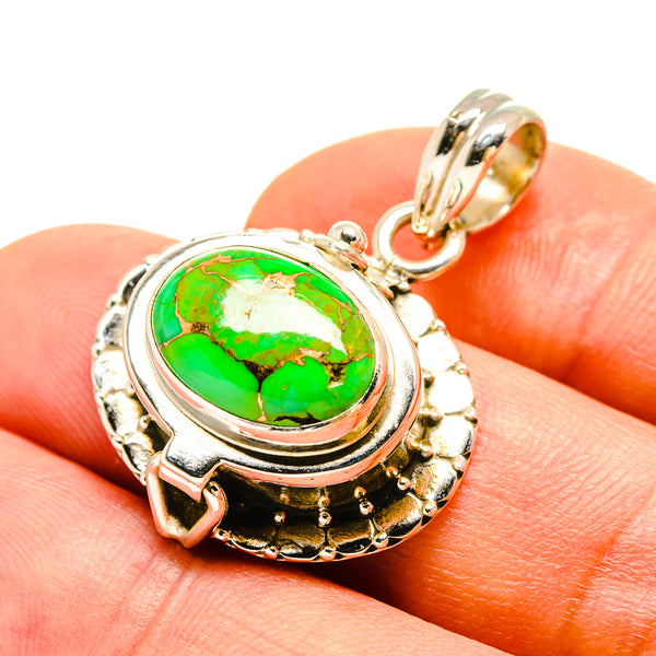 Green Copper Composite Turquoise Pendants handcrafted by Ana Silver Co - PD756957