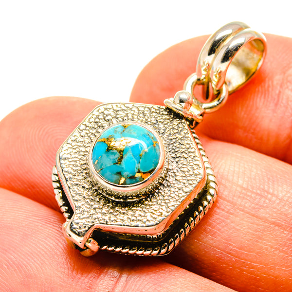 Details about  /Nicely Accented Turquoise 925 Sterling Silver Pendant Corona Sun Jewelry