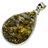 Spectro Pyrite Druzy Pendants handcrafted by Ana Silver Co - PD714097
