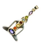 Multi-Stone Chakra Pendants handcrafted by Ana Silver Co - PD729709