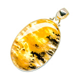 Plume Agate Pendants handcrafted by Ana Silver Co - PD740845