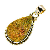 Spectro Pyrite Druzy Pendants handcrafted by Ana Silver Co - PD741162