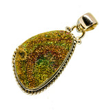 Spectro Pyrite Druzy Pendants handcrafted by Ana Silver Co - PD741364