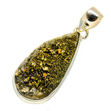 Spectro Pyrite Druzy Pendants handcrafted by Ana Silver Co - PD741907