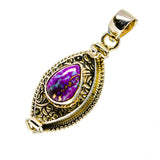 Purple Copper Composite Turquoise Pendants handcrafted by Ana Silver Co - PD752767
