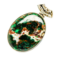 Chrysocolla Pendants handcrafted by Ana Silver Co - PD753111