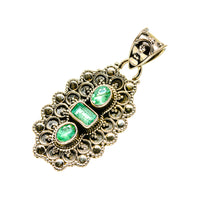 Zambian Emerald Pendants handcrafted by Ana Silver Co - PD753238