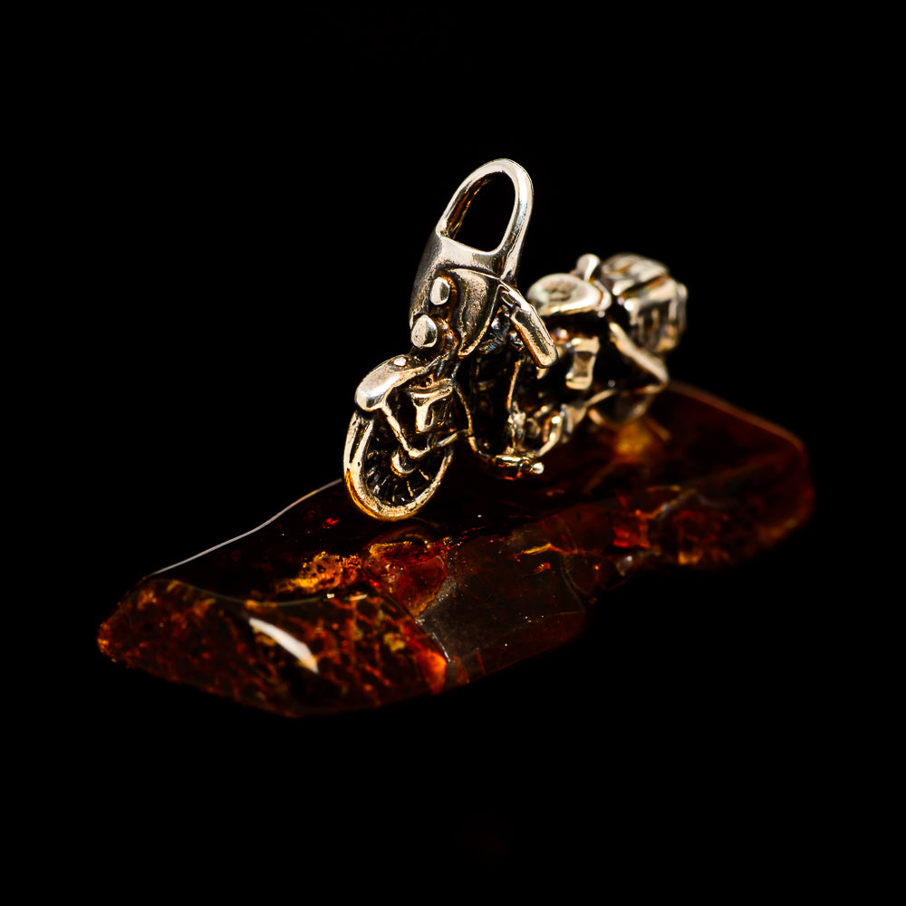 Baltic Amber Charms handcrafted by Ana Silver Co - PW1011