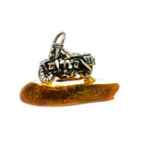 Baltic Amber Charms handcrafted by Ana Silver Co - PW1020