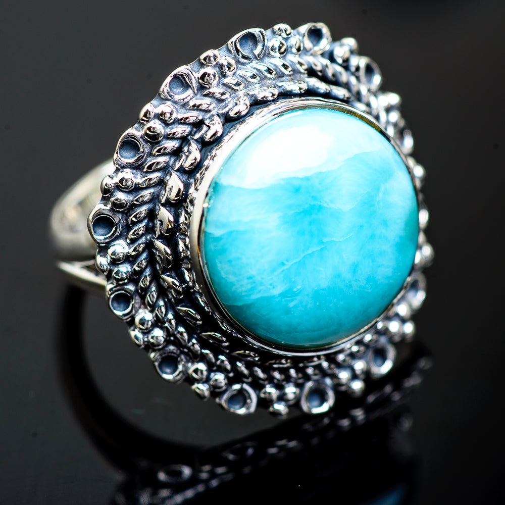 Larimar Rings handcrafted by Ana Silver Co - RING1000249