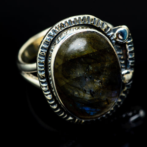 Labradorite Rings handcrafted by Ana Silver Co - RING10563