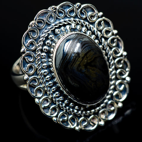 Psilomelane Rings handcrafted by Ana Silver Co - RING10683
