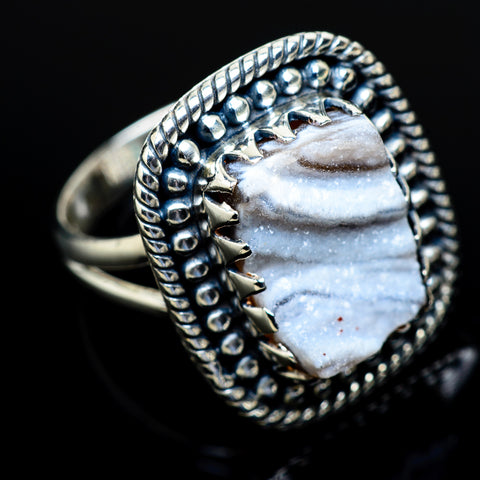 Desert Druzy Rings handcrafted by Ana Silver Co - RING10806