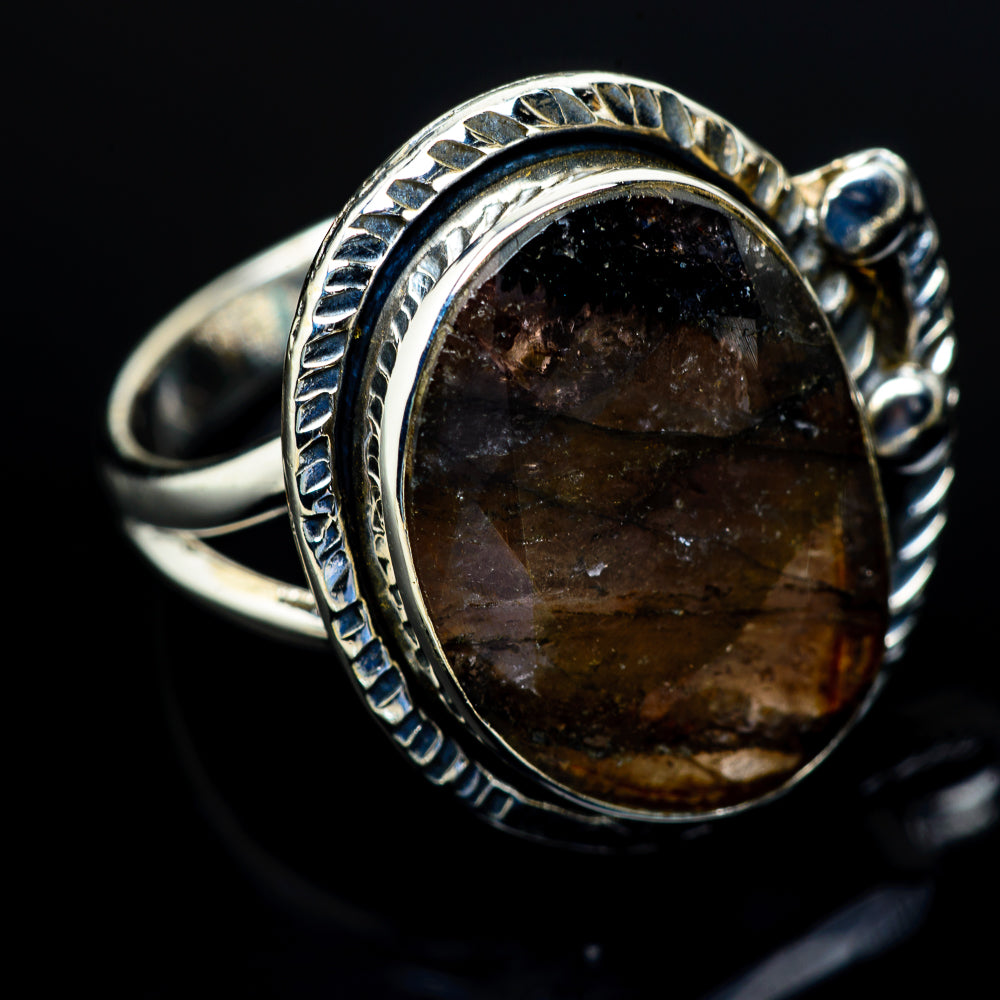 Labradorite Rings handcrafted by Ana Silver Co - RING10897