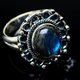 Labradorite Rings handcrafted by Ana Silver Co - RING10907