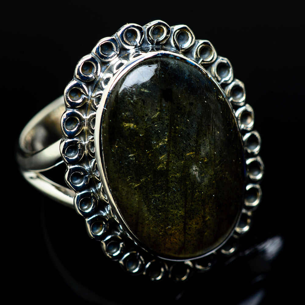 Labradorite Rings handcrafted by Ana Silver Co - RING11029