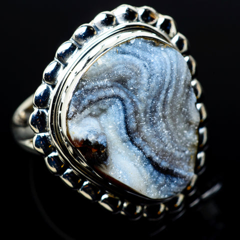 Desert Druzy Rings handcrafted by Ana Silver Co - RING11105