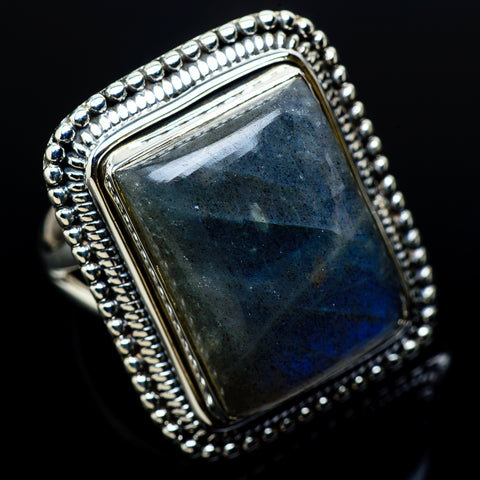 Labradorite Rings handcrafted by Ana Silver Co - RING11110