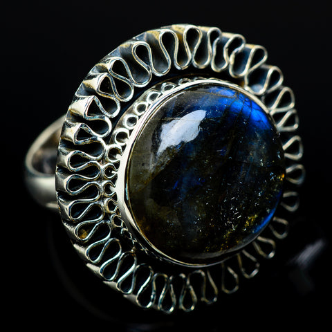 Labradorite Rings handcrafted by Ana Silver Co - RING11167