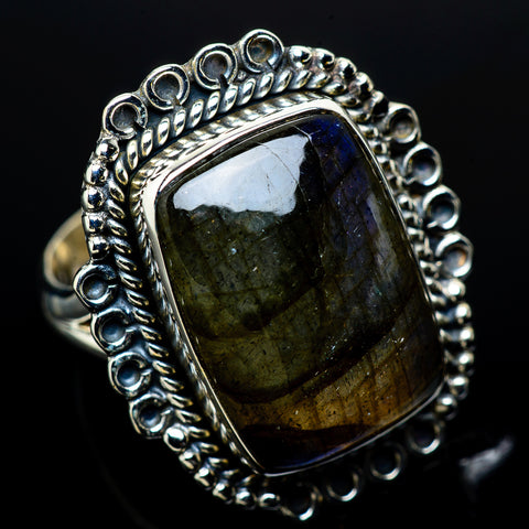 Labradorite Rings handcrafted by Ana Silver Co - RING11285