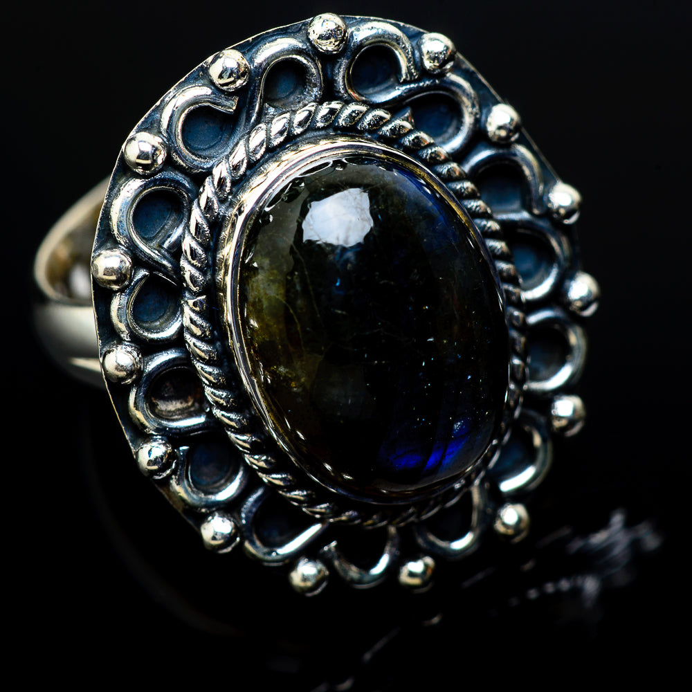 Labradorite Rings handcrafted by Ana Silver Co - RING11303