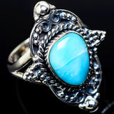 Larimar Rings handcrafted by Ana Silver Co - RING11499