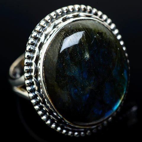 Labradorite Rings handcrafted by Ana Silver Co - RING11518