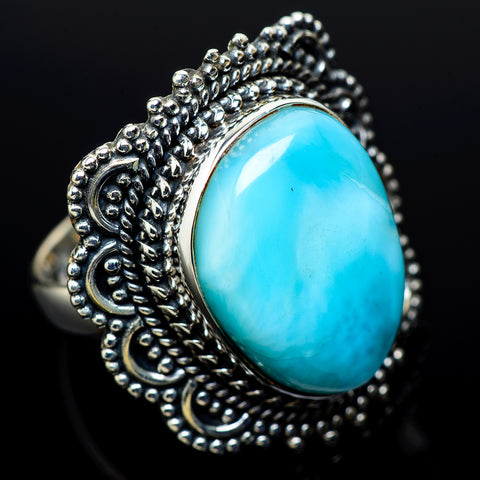 Larimar Rings handcrafted by Ana Silver Co - RING11520
