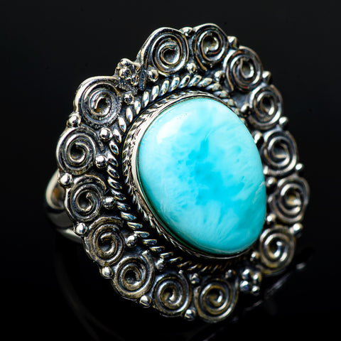 Larimar Rings handcrafted by Ana Silver Co - RING11550