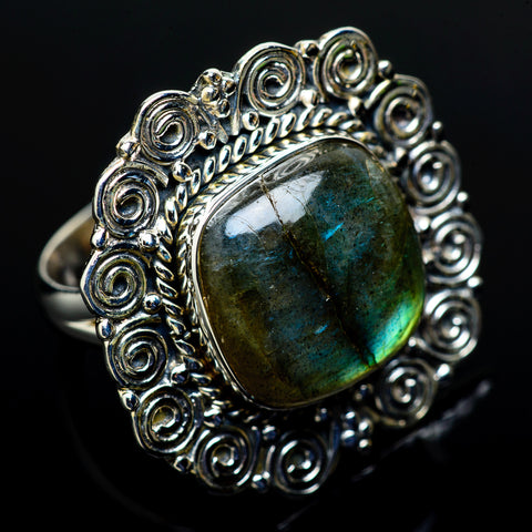 Labradorite Rings handcrafted by Ana Silver Co - RING11590