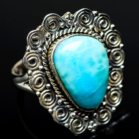 Larimar Rings handcrafted by Ana Silver Co - RING11654