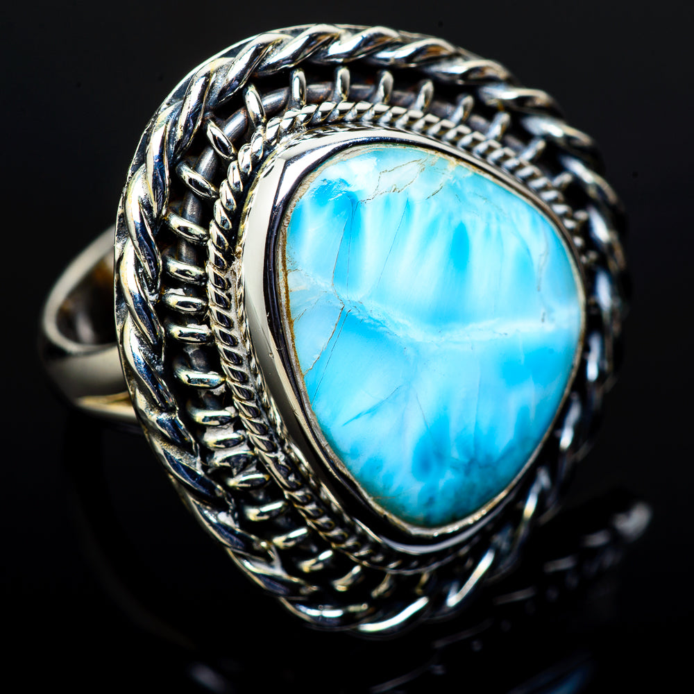 Larimar Rings handcrafted by Ana Silver Co - RING11667