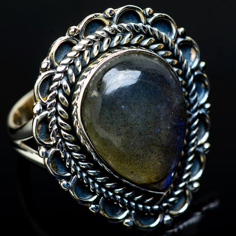 Labradorite Rings handcrafted by Ana Silver Co - RING11668