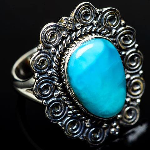 Larimar Rings handcrafted by Ana Silver Co - RING11675