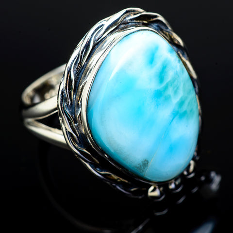 Larimar Rings handcrafted by Ana Silver Co - RING11806